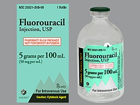 fluorouracil 5 gram/100 mL intravenous solution