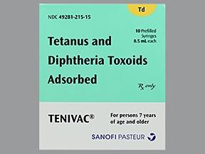Tenivac (PF) 5 Lf unit-2 Lf unit/0.5 mL intramuscular syringe