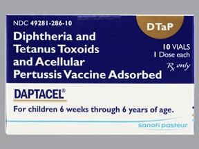 Daptacel (DTaP Pediatric) (PF) 15 Lf unit-10 mcg-5 Lf/0.5 mL IM susp