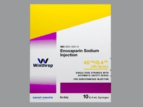 enoxaparin 40 mg/0.4 mL subcutaneous syringe
