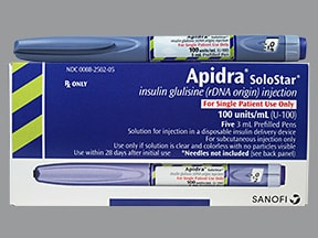 Apidra SoloStar U-100 Insulin 100 unit/mL subcutaneous pen