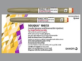 Soliqua 100/33  100 unit-33 mcg/mL subcutaneous insulin pen