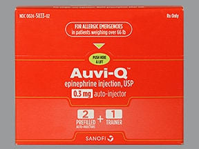 Auvi-Q 0.3 mg/0.3 mL injection, auto-injector