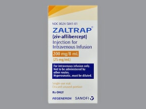 Zaltrap 200 mg/8 mL (25 mg/mL) intravenous solution