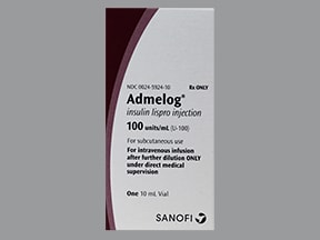 Admelog U-100 Insulin lispro 100 unit/mL subcutaneous solution