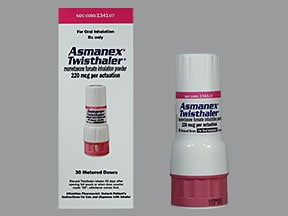 Asmanex Twisthaler 220 mcg/actuation(30 doses) breath activated inhalr