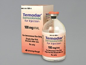 Temodar 100 mg intravenous solution