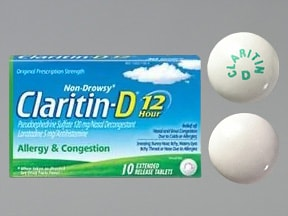 Claritin-D 12 Hour 5 mg-120 mg tablet,extended release