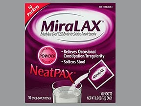 Miralax 17 gram oral powder packet