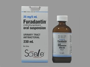 Furadantin 25 mg/5 mL oral suspension
