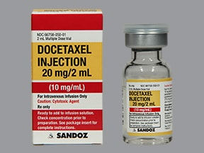 docetaxel 20 mg/2 mL (10 mg/mL) intravenous solution