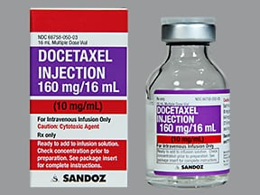 docetaxel 160 mg/16 mL (10 mg/mL) intravenous solution