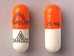 Pamelor 25 mg capsule