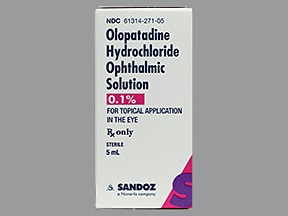 Olopatadine Ophthalmic Eye Uses Side Effects Interactions