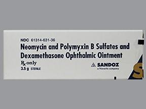 neomycin 3.5 mg/g-polymyxin B 10,000 unit/g-dexameth 0.1 % eye oint