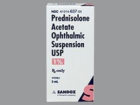 prednisolone acetate 1 % eye drops,suspension