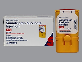 sumatriptan 4 mg/0.5 mL subcutaneous cartridge (refill)