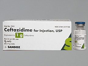 ceftazidime 1 gram solution for injection