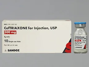 ceftriaxone 500 mg solution for injection