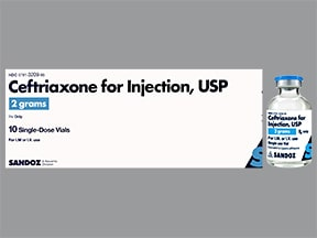 ceftriaxone 2 gram solution for injection