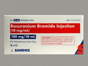 rocuronium 10 mg/mL intravenous solution