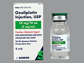 oxaliplatin 50 mg/10 mL (5 mg/mL) intravenous solution