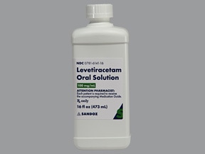levetiracetam 100 mg/mL oral solution