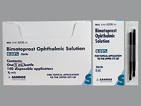 bimatoprost 0.03 % drops with applicator, eyelash base