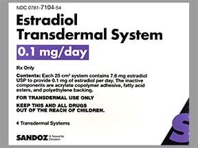 estradiol 0.1 mg/24 hr weekly transdermal patch
