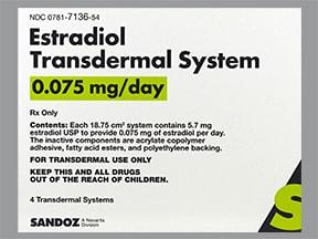 estradiol 0.075 mg/24 hr weekly transdermal patch