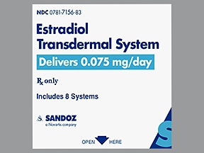 estradiol 0.075 mg/24 hr semiweekly transdermal patch