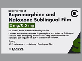 buprenorphine 2 mg-naloxone 0.5 mg sublingual film