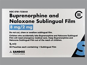 buprenorphine 8 mg-naloxone 2 mg sublingual film