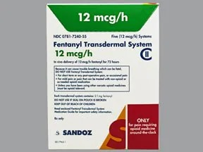 fentanyl 12 mcg/hr transdermal patch ...