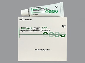 MiCort-HC 2.5 % (4 gram) topical cream with perineal applicator
