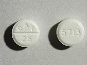 amoxapine 25 mg tablet