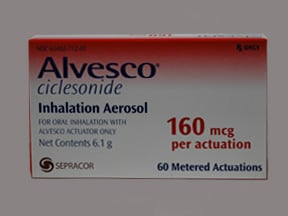 Alvesco 160 mcg/actuation aerosol inhaler