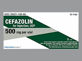 cefazolin 500 mg solution for injection