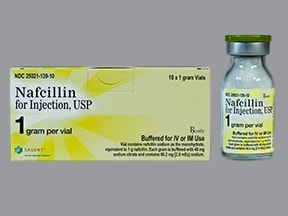 nafcillin 1 gram solution for injection