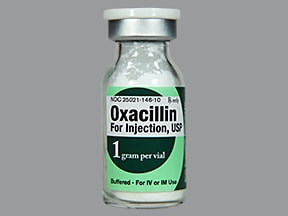oxacillin 1 gram solution for injection