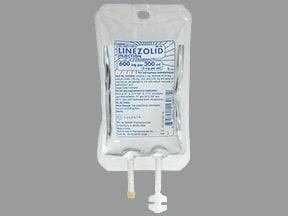 linezolid in 5% dextrose in water 600 mg/300 mL intravenous piggyback