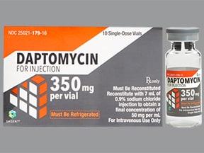 daptomycin 350 mg intravenous solution
