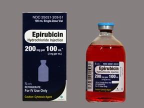 epirubicin 200 mg/100 mL intravenous solution