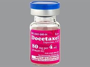 docetaxel 80 mg/4 mL (20 mg/mL) intravenous solution