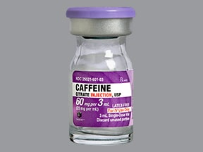 caffeine citrate 60 mg/3 mL (20 mg/mL) intravenous solution
