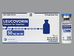 leucovorin calcium 50 mg solution for injection