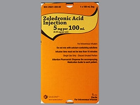 zoledronic acid 5 mg/100 mL in mannitol 5 %-water intravenous piggybck