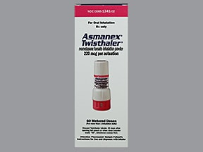 Asmanex Twisthaler 220 mcg/actuation(60 doses) breath activated inhalr