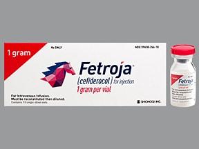 Fetroja 1 gram intravenous solution