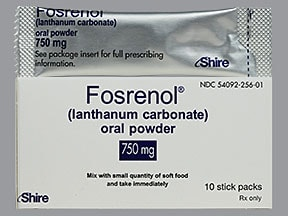 Fosrenol 750 mg oral powder packet